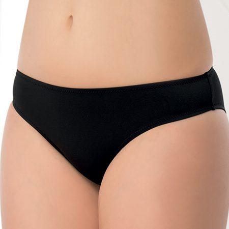 Aqua Perla- Womens-Izmir-Black- Bikini Bottom-0