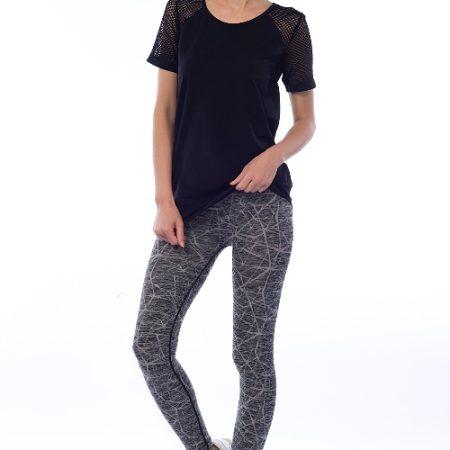 Jerf- Womens-Ayon-Grey Melange-Seamless Active Leggings-0
