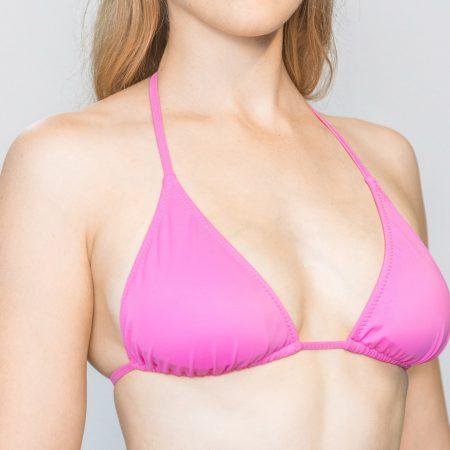 Aqua Perla- Womens-Istanbul-Pink-Triangle Bikini Top-0