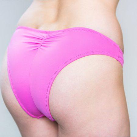 Aqua Perla- Womens-Pinamar- Pink Brazilian Bikini Bottom-0