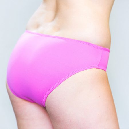 Aqua Perla- Womens-Izmir-Pink- Bikini Bottom-0