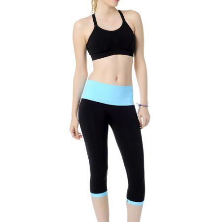 Jerf- Womens-Patras- Black Blue-Seamless Active Tight-0