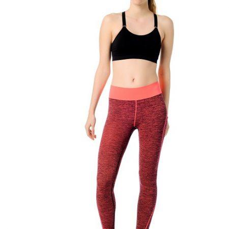 Jerf- Womens-Inkoo-Red Melange-Seamless Active Leggings-0