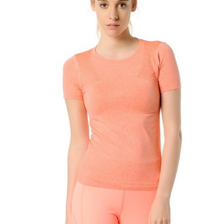 Jerf- Womens-Rodia-Coral-Seamless Performance Tee Shirt-0