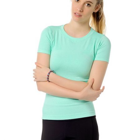 Jerf- Womens-Rodia-Mint-Seamless Performance Tee Shirt-0