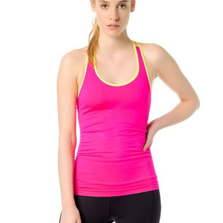 Jerf- Womens-Cali-Neon Pink-Seamless Active Tank -0