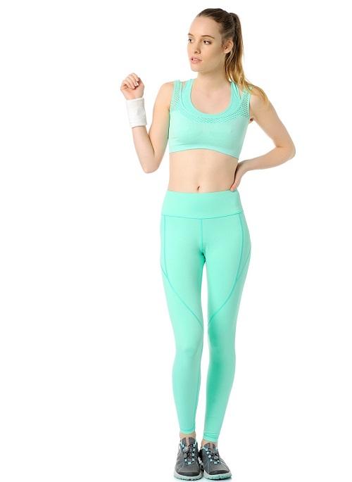 Jerf- Womens-Utah-Mint Melange-Seamless Sports Bra-3952