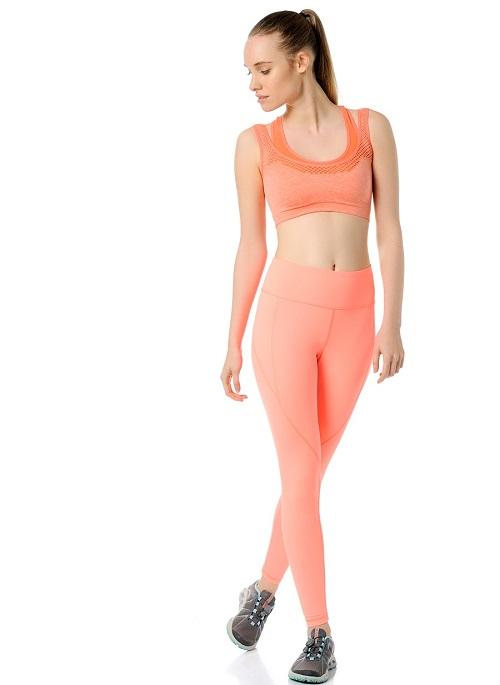 Jerf- Womens-Utah-Coral Melange-Seamless Sport Bra-3958