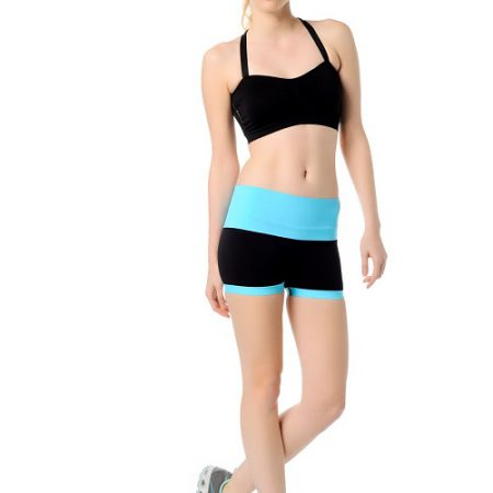 Jerf- Womens-Mahe- Black Blue-Seamless Active Short-0