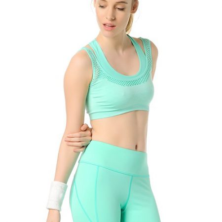 Jerf- Womens-Utah-Mint Melange-Seamless Sports Bra-0
