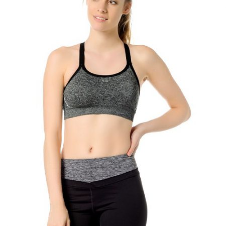 Jerf- Womens-Bauru-Grey Melange-Seamless Sports Bra-0