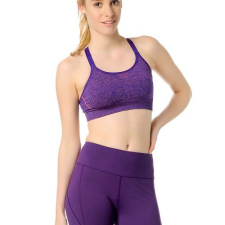 Jerf- Womens-Bauru-Purple Melange-Seamless Sports Bra-0