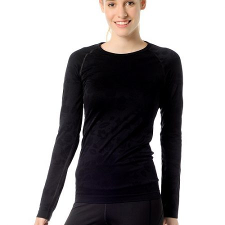 Jerf- Womens-Bukan-Black-Seamless Performance Shirt-0