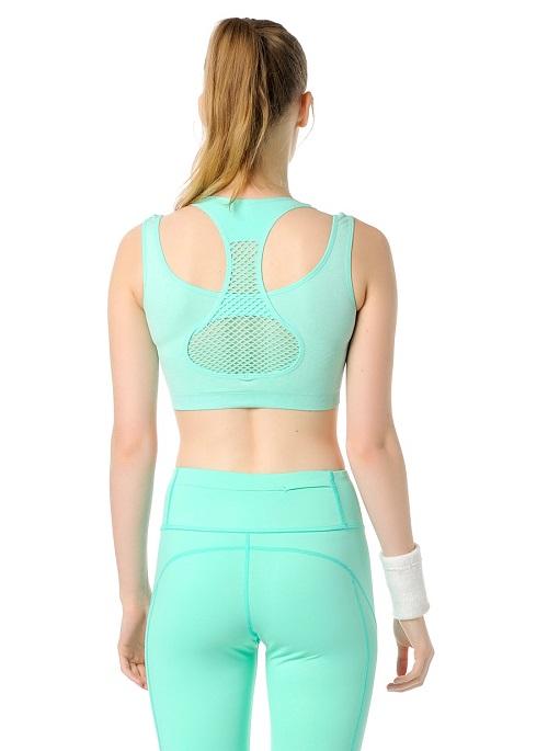 Jerf- Womens-Utah-Mint Melange-Seamless Sports Bra-3956