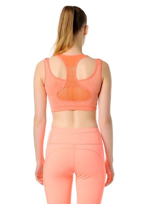 Jerf- Womens-Utah-Coral Melange-Seamless Sport Bra-3957