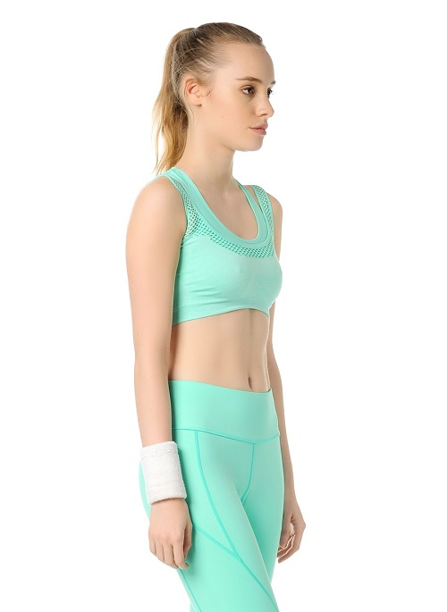 Jerf- Womens-Utah-Mint Melange-Seamless Sports Bra-3953