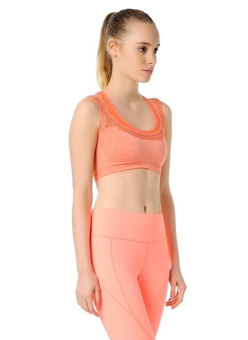 Jerf- Womens-Utah-Coral Melange-Seamless Sport Bra-3961