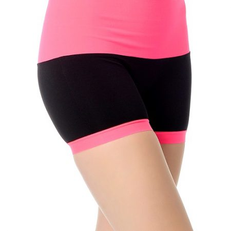 Jerf- Womens-Mahe- Black Pink-Seamless Active Short-0