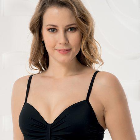 Aqua Perla- Womens-Ipanema-Black-Underwired Bikini Top-0