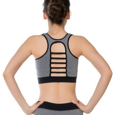 Jerf - Womens-Rimini-Black & White-Seamless Sports bra-0