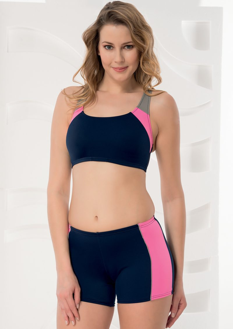 Aqua Perla-Womens-Sporty-Navy Blue-Bikini Top-0