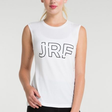 Jerf- Womens-Cusco-White-Sleeveless Tee Shirt -0