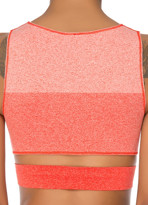 Jerf- Womens-Lima-Red Melange-Seamless Crop Top-4762