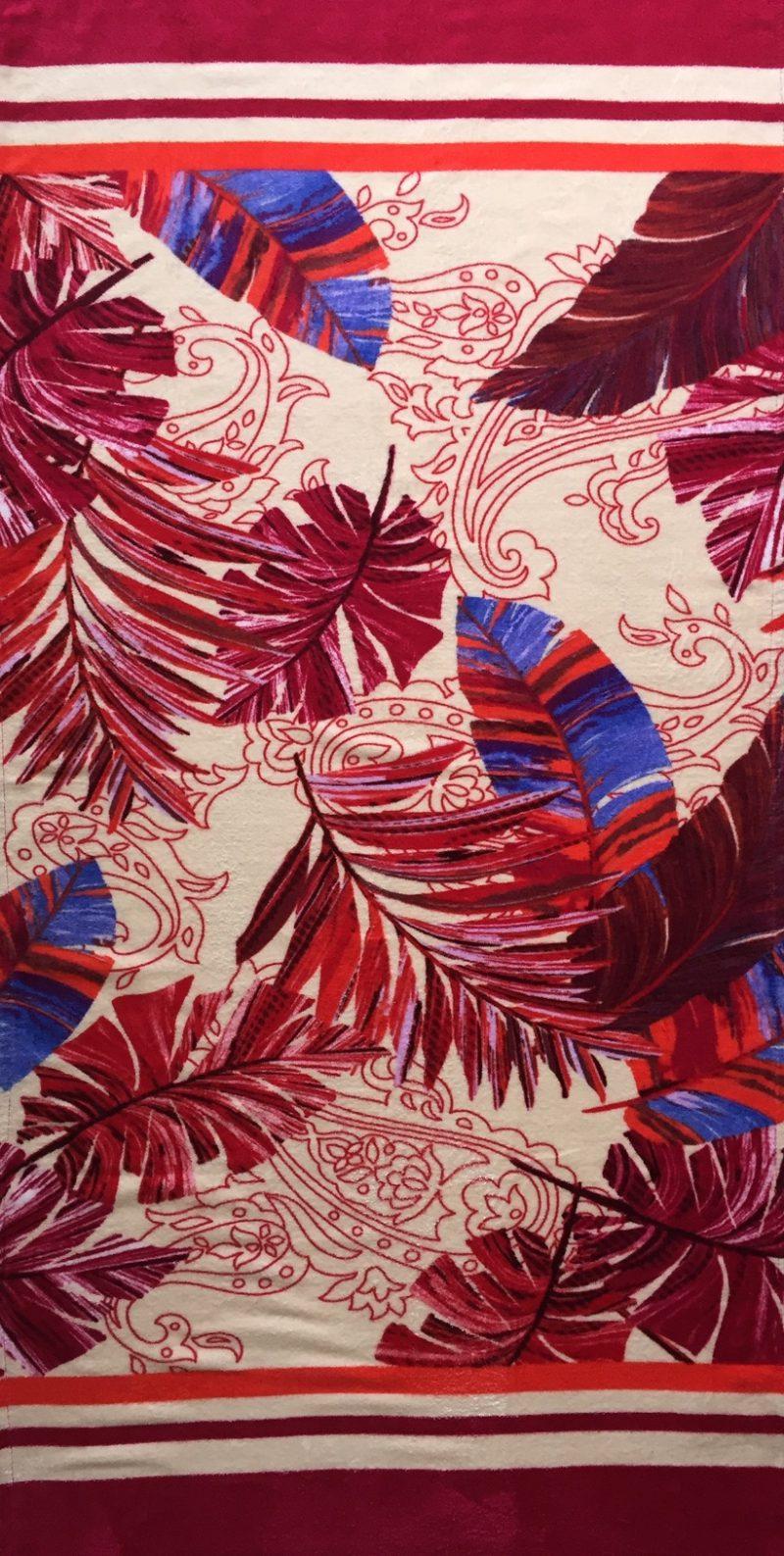Aqua Perla-Beach Towel - Tropics - Turkish cotton-0