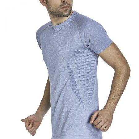 Jerf - Mens-Condor- Blue Melange - Tee Shirt-0