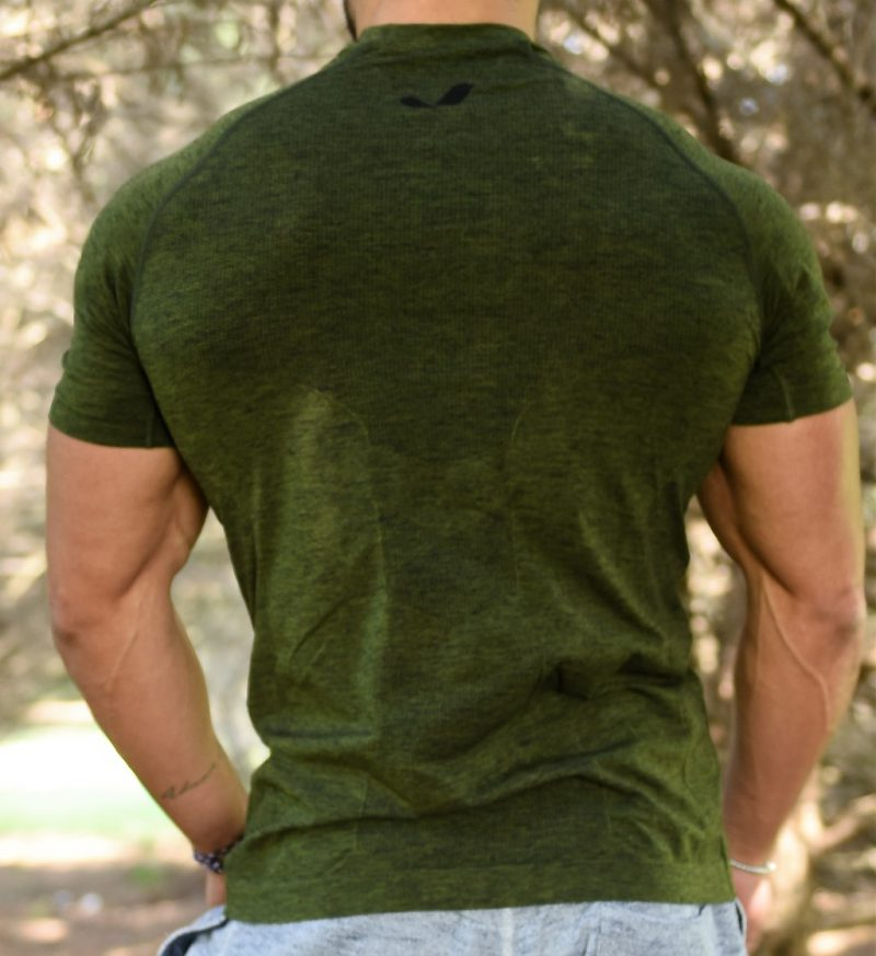 Jerf - Mens-Forio- Green Melange - Active Tee Shirt-4638