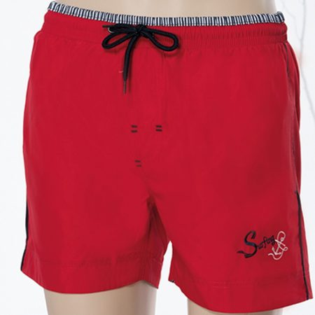 Aqua Perla - Mens-Kaui SPF50+-Red- Swim Short-0