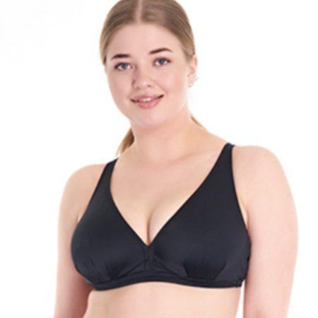Aqua Perla-Caroline-Black-Plus size- Spf50+- Bikini Top-0