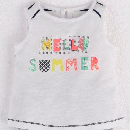 Mamino-Baby-Desiree-White Sleeveless Tee Shirt-0