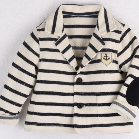 Mamino- Boy- Marcelo - Striped French Terry - Casual Jacket -0