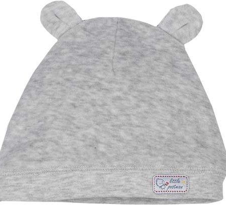 Idilbaby-Baby- Little Postman-Grey Melange-Velvet Hat-0