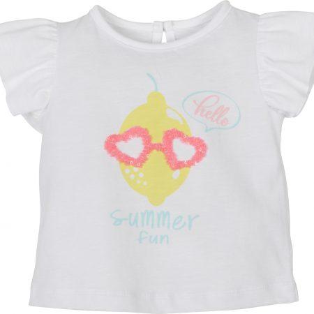 Mamino-Baby-Girl-Summer Fun-White-Tee Shirt -0