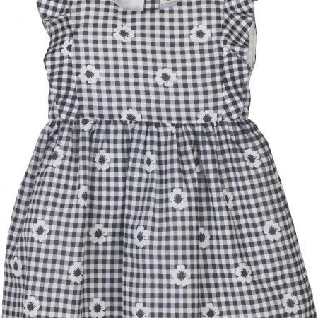 Mamino- Girl- Elisa- Black White-Gingham-Dress-0