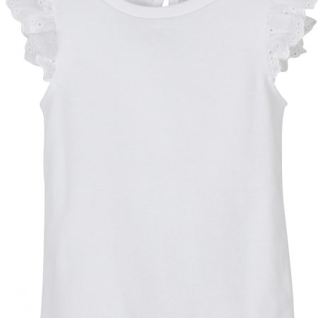 Mamino- Girl- Angel- White Ruffle Sleeves Tee Shirt -0