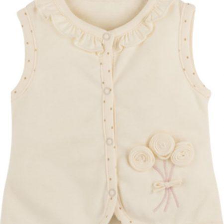 Idilbaby - Gots Organic- Girl- Baby - Helen - Cream - Vest-0
