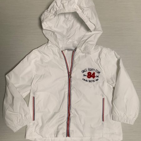 Mamino- Boy- Andy- White - Rain Jacket -with -Hood-0
