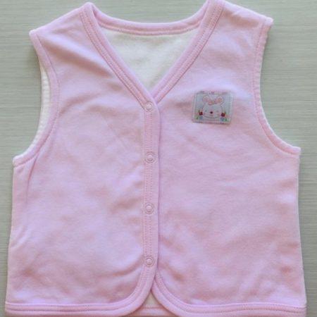 Idilbaby-Baby-Bunny-Pink-Reversible Sleeveless Vest-0