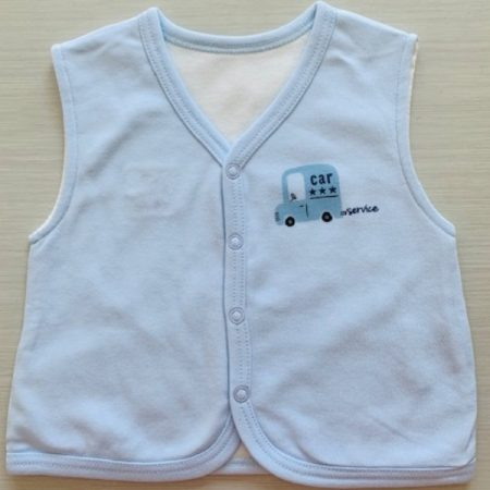 Idilbaby-Baby-Little Angel-Blue-Reversible Sleeveless Vest-0