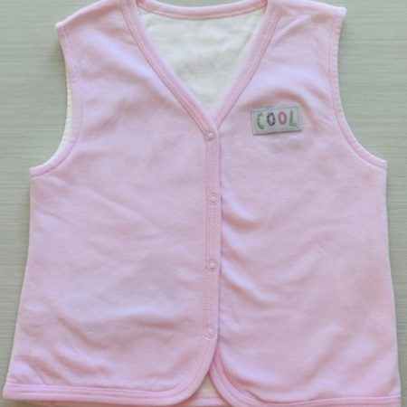 Idilbaby - Baby - Cool - Pink - Reversible Sleeveless Vest-0