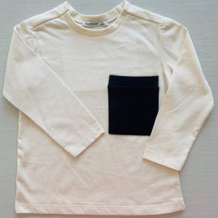 Mamino- Boy- Damien - Cream - Long Sleeves Printed Tee Shirt-0