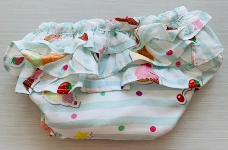 Mamino- Baby-Girl- Leonor- Printed Bloomer and headband - White Top - 3 Pieces Set-5174