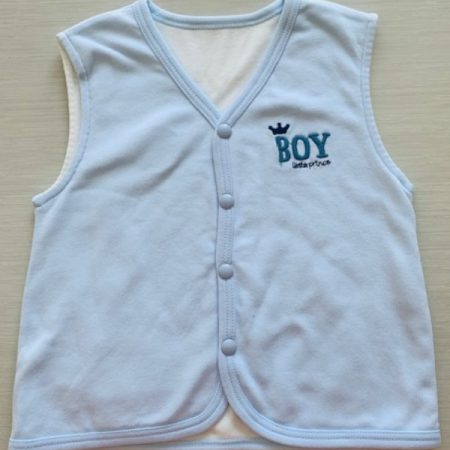 Idilbaby-Baby-Little Prince-Blue-Reversible Sleeveless Vest-0