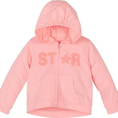 Mamino- Girl - Star- Coral - Long Sleeves Hoodie-0